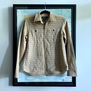 Ralph Lauren Wool Zip-Front Shirt
